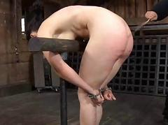 Bench torture for beautys cunt