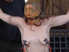 Facial torture of pretty babe