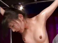 Spread Eagle Bondage with an increment of Orgasm For Japanese Girl