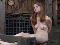 Hung in babe is punished