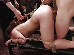 Dominate prisoner customary as sex slave