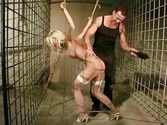 Sexy blonde gets punished and fucked rough