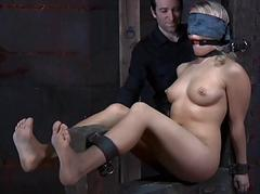 Lusty lashing for taxing chick