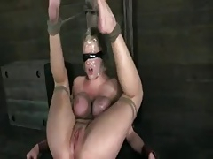 Auriferous milf give obese tits tied and fucked hardly.BDSM.