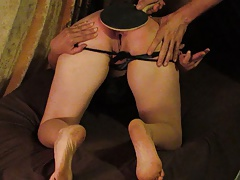 MILF wife spanked by pingpong paddle