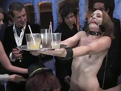 Hot pretty girl gets mind fucked increased by bondage sex