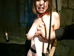 Lactating Torture and Milking in Glass Part 2