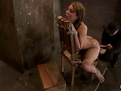 BDSM- Anal : submission with a huge dildo rammed relating to ass