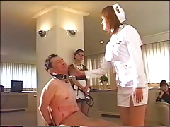 Slave roughed up by the stewardesses
