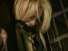 Hot blonde gets punished and fucked in jail