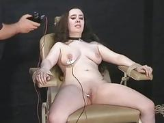 Electro tortured bbw in harsh govern bondage