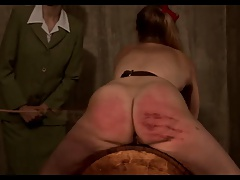 Pervy boobs strip and cane blonde