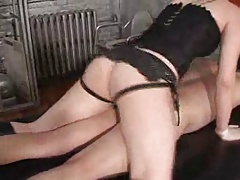 Mistress with black strapon