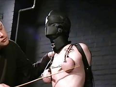 hooded slave racking with an increment of packed