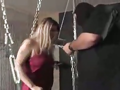 German Bondage Porn Girl Gets More Than She Asks For