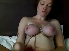 Tied tits and toys prevalent pussy and ass