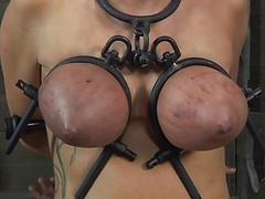 Serf acquires ass whipping before pussy torturing