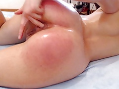 Bore spanked red with squirting
