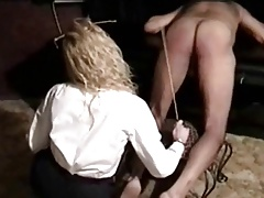 Teacher punishing student