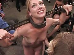 Slave receives a fix it punishment for say no to twat