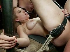 Rough group gratifying for wicked sex slaves