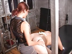 Femdom Strapon - Angle over for your Boss