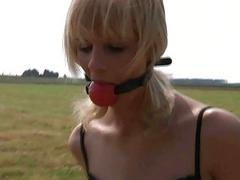 Dominator leds his depending in wilderness to fuck her
