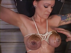 Big tits hottie bound and teased fro hot dilate