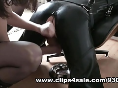 Rubber Puppy Play, Hunter Boot Workship, Anal, Cum Licking