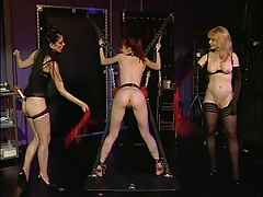 Nina Hartley coupled with two lickerish sluts caress