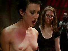 Serf receives a wicked group torment for her hesitation