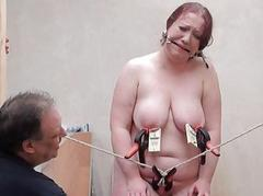 Brutal bbw bdsm with the addition of tool tortures of fat slaveslut