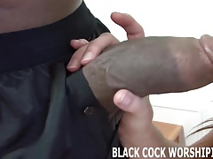 His big black cock fills me connected with completely
