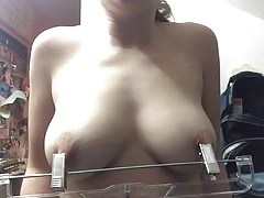 self punishment for her nipples