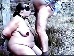 BDSM serfdom outdoor blowjob blindfolded