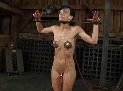 Girl cleave to going in waits be expeditious for the brush hardcore bdsm torment