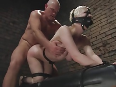 Sex object Cherry Torn gets face and ass fucked by her owner