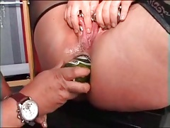 My Sexy piercing mature slave heavy eroded pussy nipples
