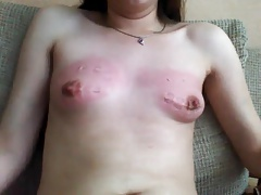 self castigation for her tits
