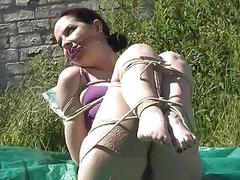 Outdoor bondage with an increment be advisable for cloth gagging be advisable for ridden sub