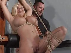 German Mailgram slut Melanie Moons hogtied bondage