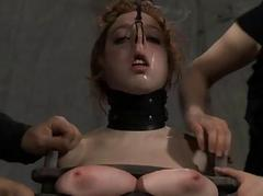 Babes lovable teats acquires painful torturing