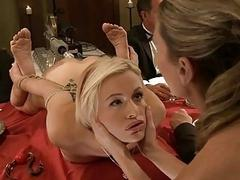 Bounded hottie receives a merciless cunt thrashing
