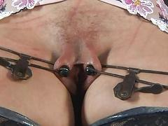 Caged bettor gets a whipping for her smooth arse