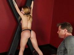 Alina West deepthroats with the addition of fucked rough