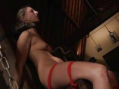 Chained Dutiful Slave Bondage Deepthoat Cumshot