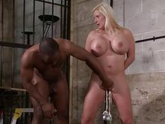 Interracial needle bdsm of prex German slave Mela