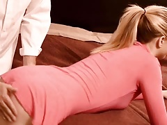 pretty dame gets spanked