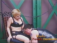 Saucy blonde old bag enjoys banging a horny well-hung stud complete