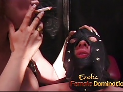 Clog up b mismanage stallion has some joke in the dungeon with two sluts